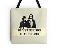 Our paths were entwined from the very start. Tote Bag