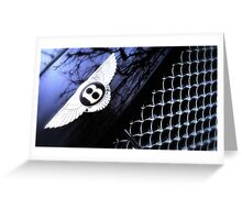 Bentley Continental GT - Bonnet Badge & Radiator grille Greeting Card