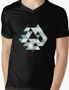Graphic 202 Turquoise Mens V-Neck T-Shirt
