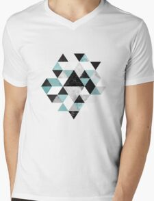 Graphic 202 Turquoise Mens V-Neck T-Shirt