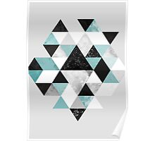 Graphic 202 Turquoise Poster