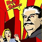 Stalin portrait red scare soviet union poster by SofiaYoushi