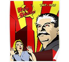 Stalin portrait red scare soviet union poster Poster