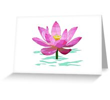 Lotus Flower in Water Greeting Card