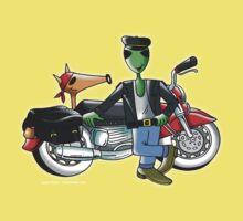 alien moto road Kids Tee