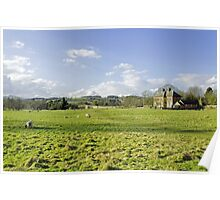 A Riverside Meadow at Mapleton Poster