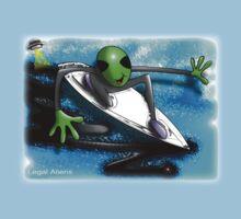 alien surfer Kids Tee