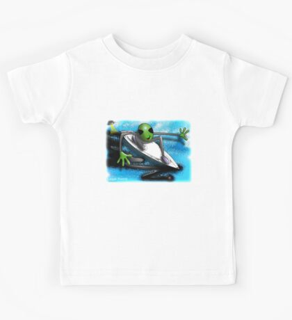 alien surfer Kids Tee