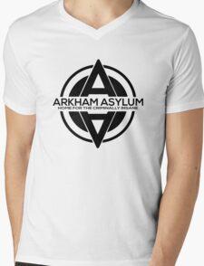 Batman - Arkham Asylum Black Mens V-Neck T-Shirt