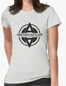 Batman - Arkham Asylum Black Womens Fitted T-Shirt