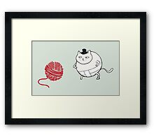 Catsumo - the sumo cat Framed Print