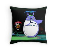 Totoro mix up! Throw Pillow