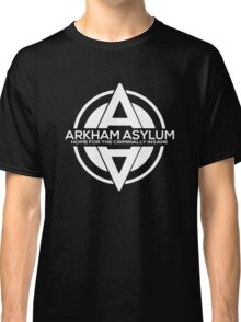 Batman - Arkham Asylum White Classic T-Shirt