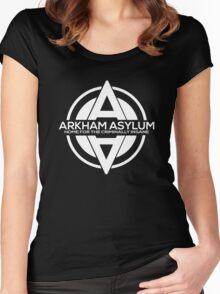Batman - Arkham Asylum White Women's Fitted Scoop T-Shirt