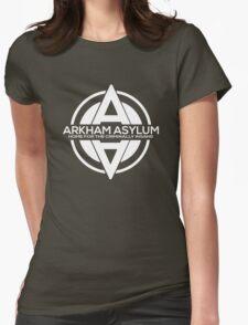 Batman - Arkham Asylum White Womens Fitted T-Shirt