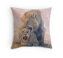 Lions Throw Pillow