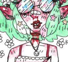Lexi the hippie child Sticker