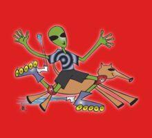 alien rollerblade Kids Tee