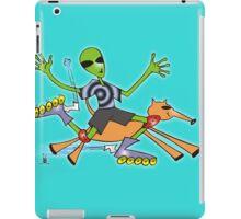 alien rollerblade iPad Case/Skin