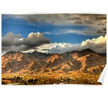 Sunset on Catalina Mountains, Tucson AZ Poster