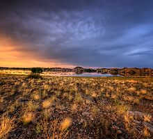 Sunset Over Willow Lake by Bob Larson
