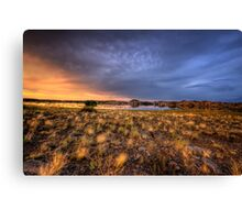Sunset Over Willow Lake Canvas Print