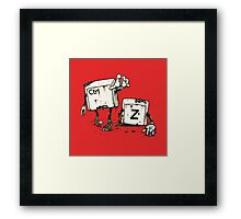 Walking Undoead Framed Print