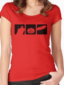 halloween silhouette Women's Fitted Scoop T-Shirt