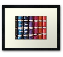 Color in a Jar Framed Print
