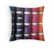 Color in a Jar Throw Pillow