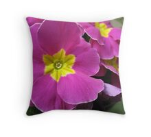 Prim and Proper Primroses Throw Pillow