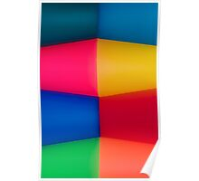 Abstract Multi Coloured Background 2 Poster