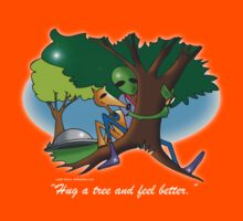 hug a tree and feel better Kids Clothes