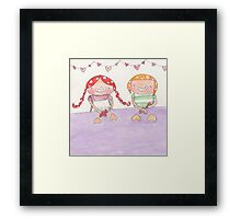 February - Year of Sisters - Watercolor Framed Print