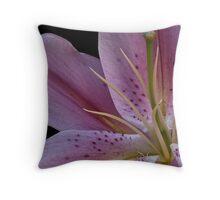 """""""Pink Iris"""" Throw Pillow"""
