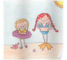 June - Year of Sisters - Watercolor Poster