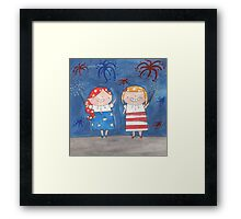 July - Year of Sisters - Watercolor Framed Print