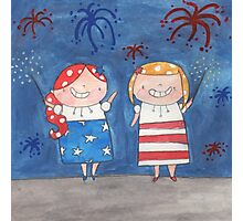July - Year of Sisters - Watercolor Photographic Print