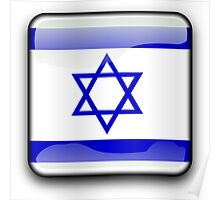 Israel Flag, Icon Poster