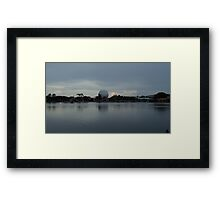 Epcot Across The Water Framed Print