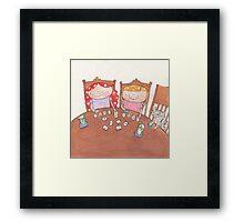 September - Year of Sisters - Watercolor Framed Print