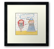 October - Year of Sisters - Watercolor Framed Print
