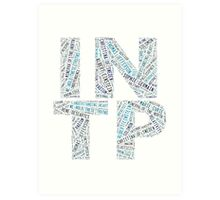 INTP Word Cloud Art Print