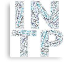INTP Word Cloud Canvas Print