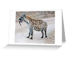 Hyena With Serious Overbite Greeting Card
