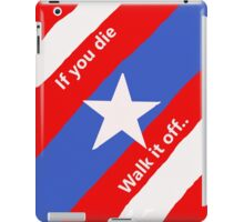 Walk it off iPad Case/Skin