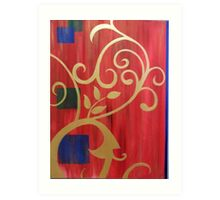 Red Curtain Art Print