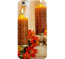 Zinnias And Candles Still Life  iPhone Case/Skin