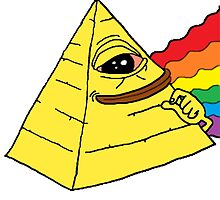yellow Illuminati pepe by djbunny5