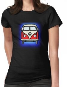 Red White Campervan Womens Fitted T-Shirt
